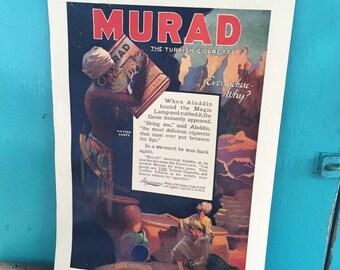 Vintage Murad Cigarette Ad Tobacciana