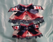 Boston Red Sox Pinstripe Wedding Garter Set