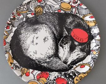 Wolf Cake Guard Tea Tray