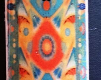 Egyptian Design Domino Game Tile Pendant