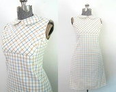 RESERVED Peter Pan Collar Sheath Dress Retro Preppy Vintage 1960s Daydress Office Casual
