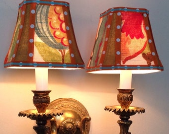 Whimsical and fun chandelier or sconce lamp shades