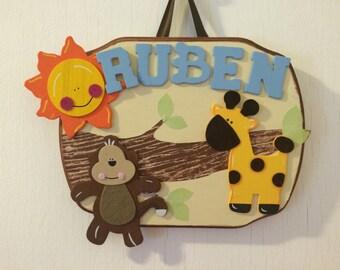 custom kids name plaques