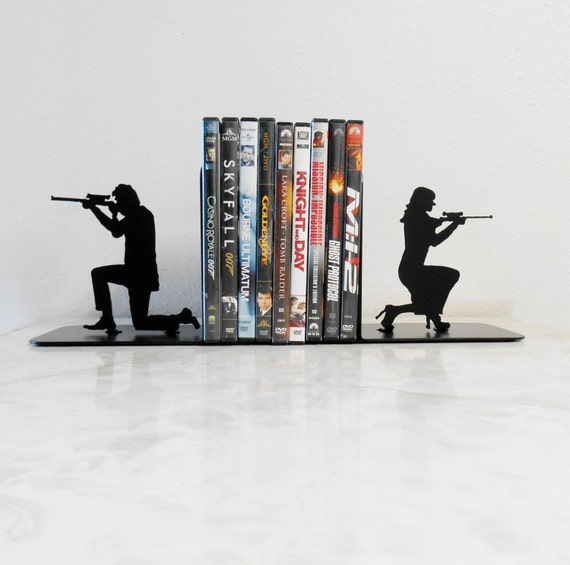 Special Agent / 007 / James Bond / Spy / Mission Impossible / Double Agent / Undercover / Mr & Mrs Smith /Metal Art Bookends