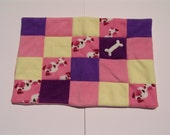 Small dog blanket - pink dogs
