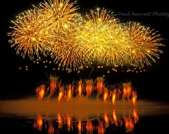 Fine Art Photography -  Fireworks - July 4th - Lopez Island- San Juan Islands- 12 X 18 prints