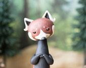 Red Panda Sculpture by Bonjour Poupette