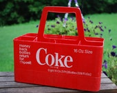 1970s Plastic Coca Cola Carry Carton to hold Eight 16 Ounce Bottles