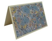 Hand Marbled Note Greeting Cards, Set of 4 with Envelopes