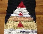 Red Peak Rectangle Rag Rug