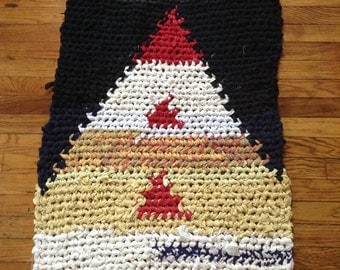 Red Peak Rectangle Rag Rug