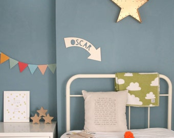 Personalised Name Arrow Wooden Sign