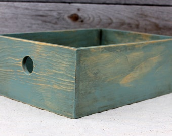 Desktop Storage Box in Sea Foam Green