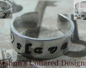 BDSM Gorean Handstamped Ring Adjustable
