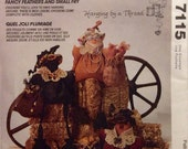 Sewing Pattern Fancy Feathers & Small Fry Decorative Chickens Hen Dressed Stuffed Figures 1994  Uncut