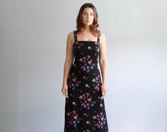 1990s Maxi Dress - Vintage 90s Silk Dress - Georgette Fardeau Silk Dress