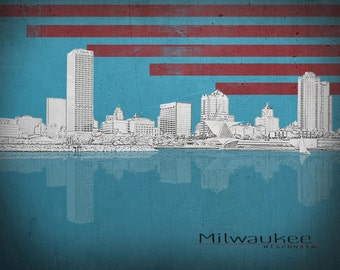 Milwaukee Wisconsin City Print