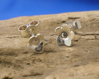 Silver Small Flower Studs, Handmade, Sterling Silver, Flowers, Flower Jewellery, Daisies, 925 Silver, Flower Earrings