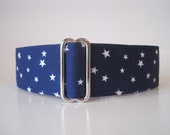 Blue Martingale Collar, 1.5 Inch Martingale Collars, Blue Dog Collar, Stars Martingale Collar, Blue Stars, Martingale Dog Collar
