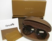 ON HOLD for Gina Authentic GUCCI,1627/S Iconic Red & Green Stripe detail,Unisex Sunglasses + Case,Box,Card
