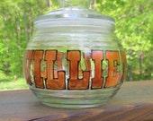 "Medical Marijuana Pot Glass Canning Storage Jar ""Willie's Finest"" Sealing Lid"