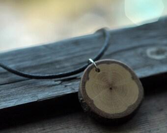 White Oak Wood  •  Wooden Necklace • Wooden Pendant
