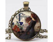 "Shakespeare's ""The Tempest"" interpreted by Waterhouse Necklace Altered Art Pendant Resin Pendant Picture Pendant Art Pendant"