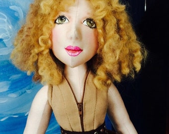 Ooak Dr Who River Song Melody Pond Doll Cloth