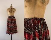 1970s African Violet chevron gauzy summer skirt  / 70s indian cotton