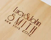 Wedding Guest Book   Small Wedding Guestbook   Engagement Gift   Bridal Shower   Art Deco Style