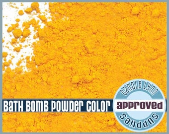 Bath Bomb YELLOW Powder Color - 1/2 oz
