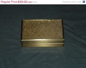 July SALE Vintage Jewelry Box Case: 50s Whiting & Davis Gold Mesh RARE