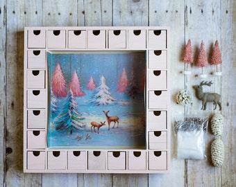Diy Unfinished Wooden Christmas Advent Calendar By