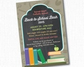 DIY Printable Back to School Night School Fundraiser Invitation DIGITAL FILE