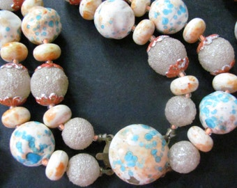 1950s Vintage Sugar Coated Candy  Double Strand Necklace
