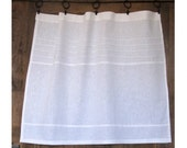 Large Cafe Panel, Lounge Half Curtain, Bathroom Curtain, White Washed Linen Curtain, New Home Decor, Cottage Decor