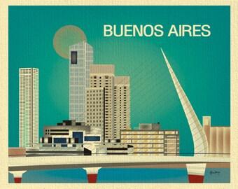 Buenos Aires Print, Argentina Art, Buenos Aires art, Buenos Aires Argentina, Buenos Aires,  blue style  E8-O-BUE-B