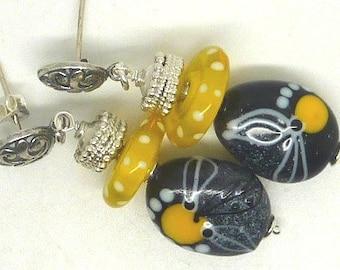 Lampwork Earrings, SOPHISTICATION