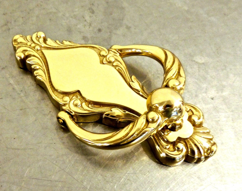 Vintage brass door knocker 1950s 60s large brass door - Antique brass door knocker ...