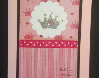 Birthday Wishes Crown Card