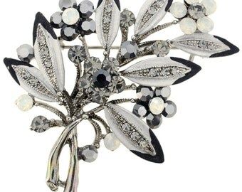 Black Flower Bouquet Pin Brooch And Pendant 1010484