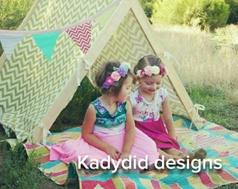 Childrens Tent - A Frame Play Tent - Chevron Play Tent - Photo Prop Tent - Childrens Christmas Gift Idea - Folding Tent - Play Tent