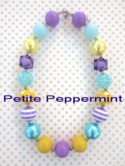 baby chunky necklace baby bead necklace toddler chunky