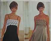 Misses' Expo Elegant Party Summer Dress Butterick 3902 Sewing Pattern UNCUT, Sizes 6-8-10-12