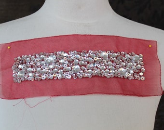 Very cute  embroidered   and  beaded    applique