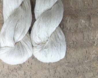 Pure White  - Silk Lace Yarn