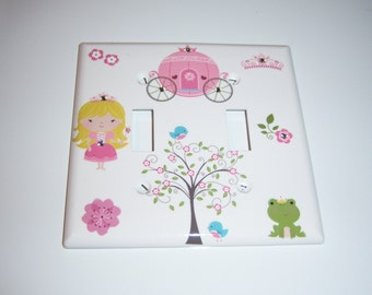 Princess Double Light Switch Cover - Swarovski Crystals