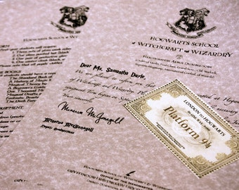Lost Hogwarts Acceptance Letter : Owl Lost in the Mail - Undelivered Wizard Letter, Personalized on Parchment Paper Harry Potter Letter