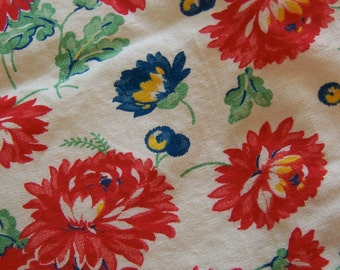 colorful flowery linen kitchen towel