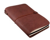 Leather Cover for Journal in OILED BROWN (Free Monogramming)